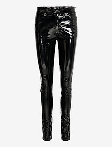Amaya latex trousers - skinnbyxor - black