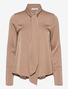Miki blouse - långärmade blusar - sand