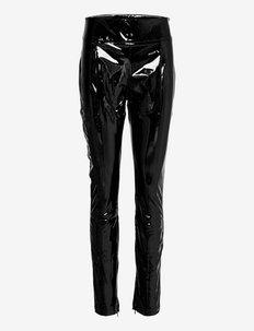 Elly latex trousers - skinnbyxor - black