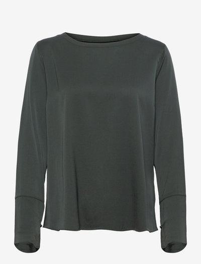 Kasumi blouse - langermede bluser - dark military