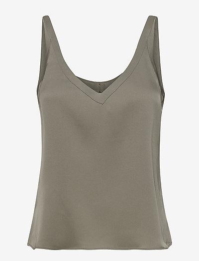 Shin tank - sleeveless tops - light military