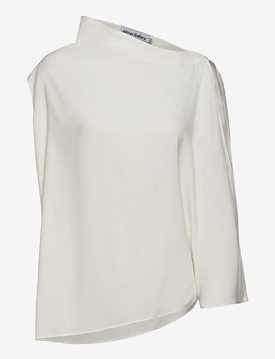 Ellika top - langärmlige blusen - off-white