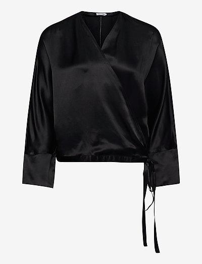 Hidden blouse - langärmlige blusen - black