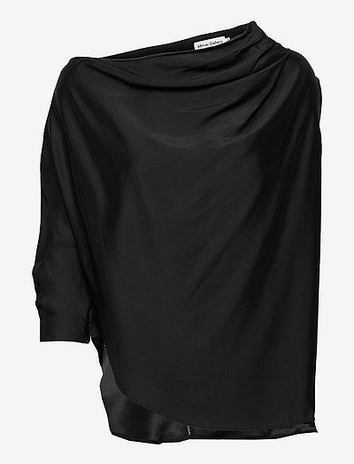 Lana blouse - langermede bluser - black