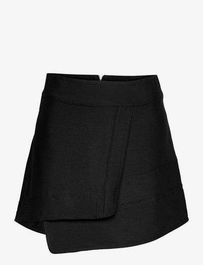 Dalima wool skirt - kort skjørt - black