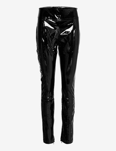 Elly latex trousers - skinnbukser - black