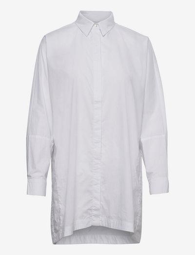 Gigi long shirt - denimskjorter - white