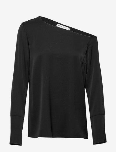 Chiney blouse - langermede bluser - black