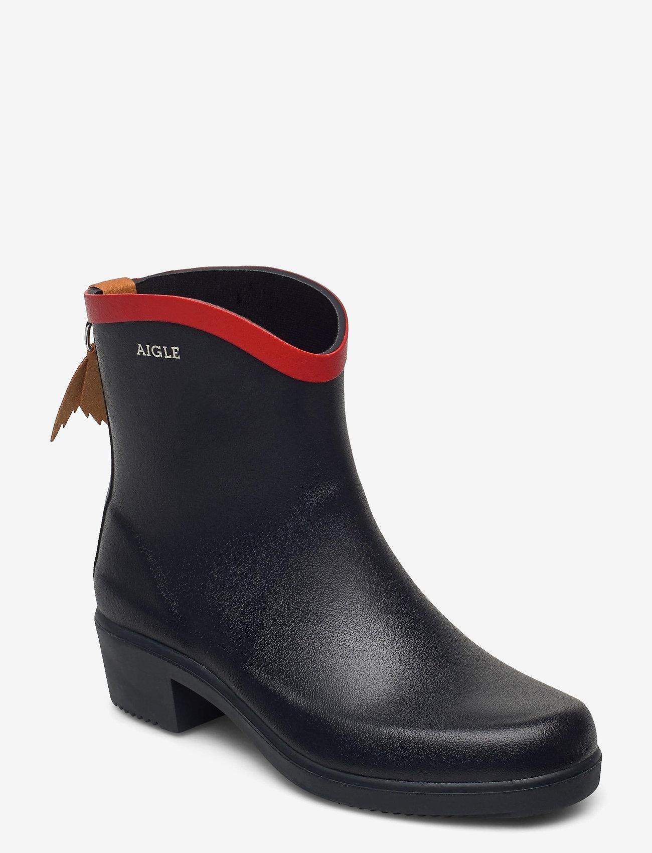 Aigle - AI MS JULIETTE BOTTILLO MARINE - bottes de pluie - marine/rouge - 0