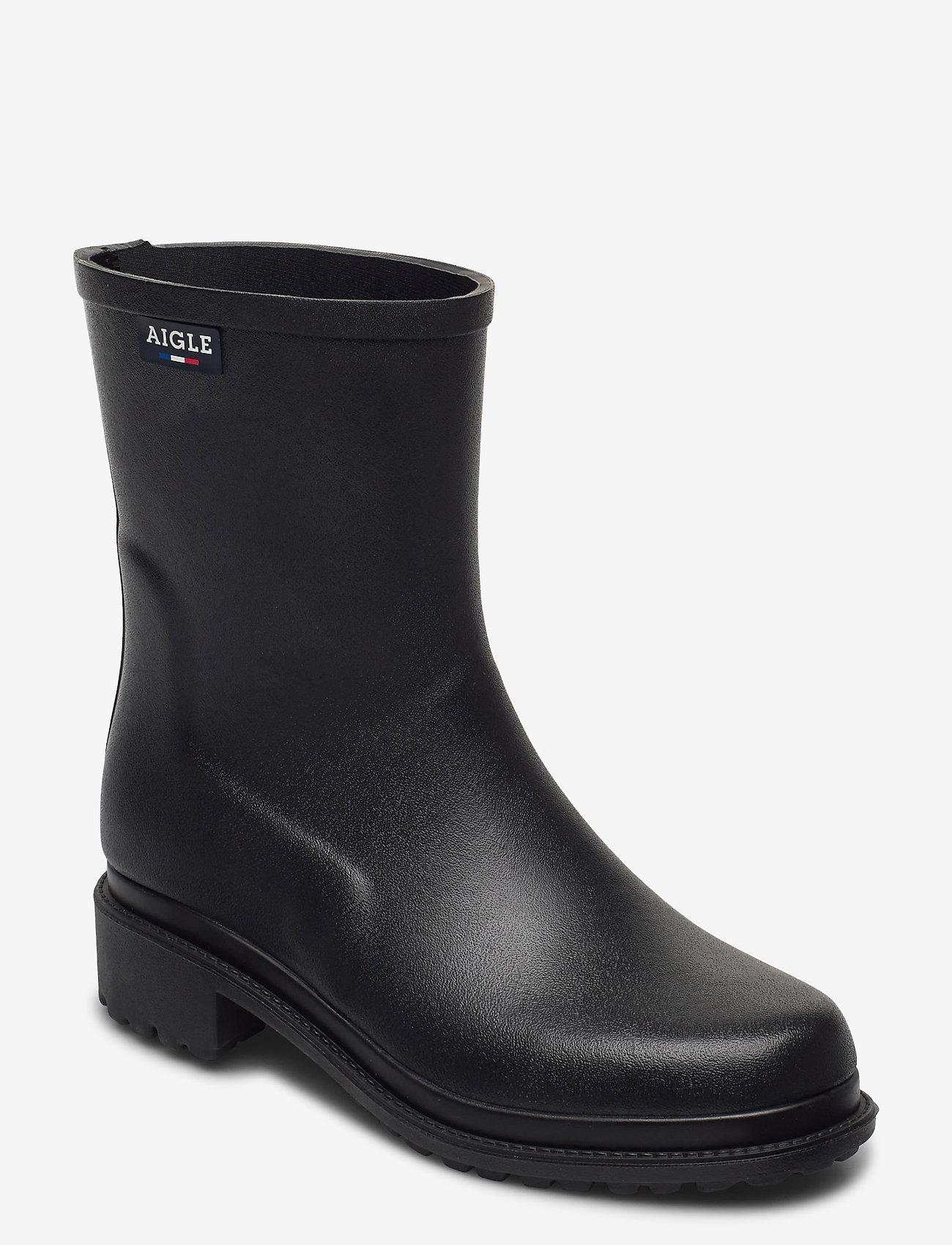 Aigle - AI FULFEEL MID NOIR - bottes de pluie - noir - 0