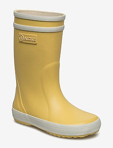 LOLLYPOP JAUNE/BLANC - uforede gummistøvler - jaune/blanc