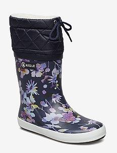 AI GIBOULEE DARKFLOWER - gummistøvler - darkflower