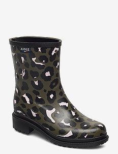 AI FULFEEL MID PT LEOPARD/KA - regenlaarzen - leopard/kaki