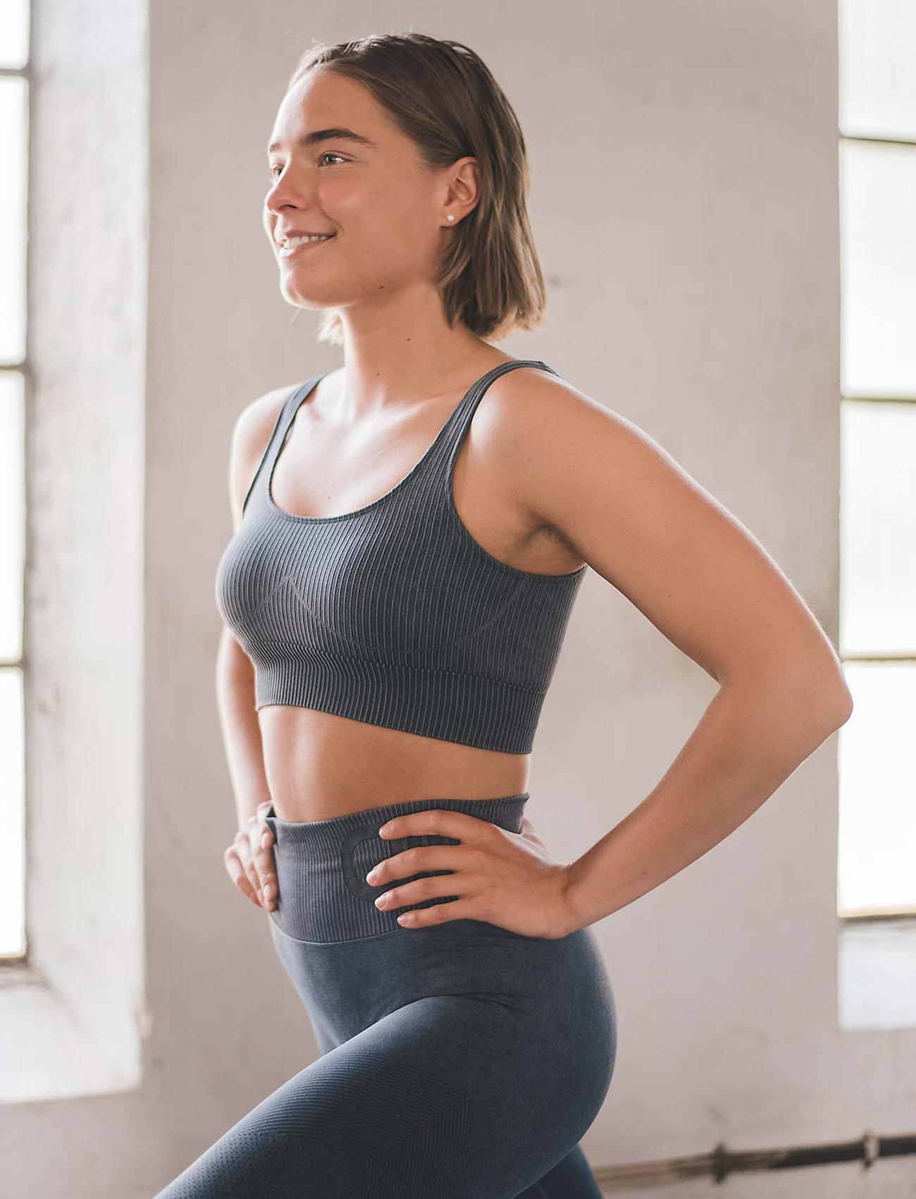 AIM'N - Ocean Washed Ribbed Seamless Bra - sport bras: medium - ocean - 0