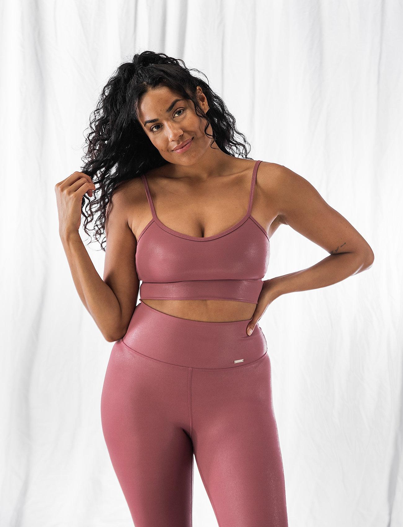 AIM'N - Pink Beat Shine On Strap Bra - sport bras: low - pink - 0