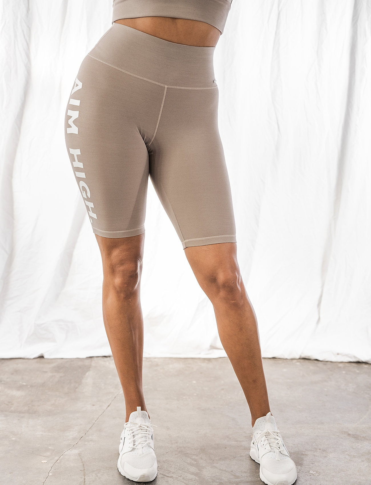 AIM'N - Word Espresso Melange Soft Biker Shorts - träningsshorts - espresso - 0