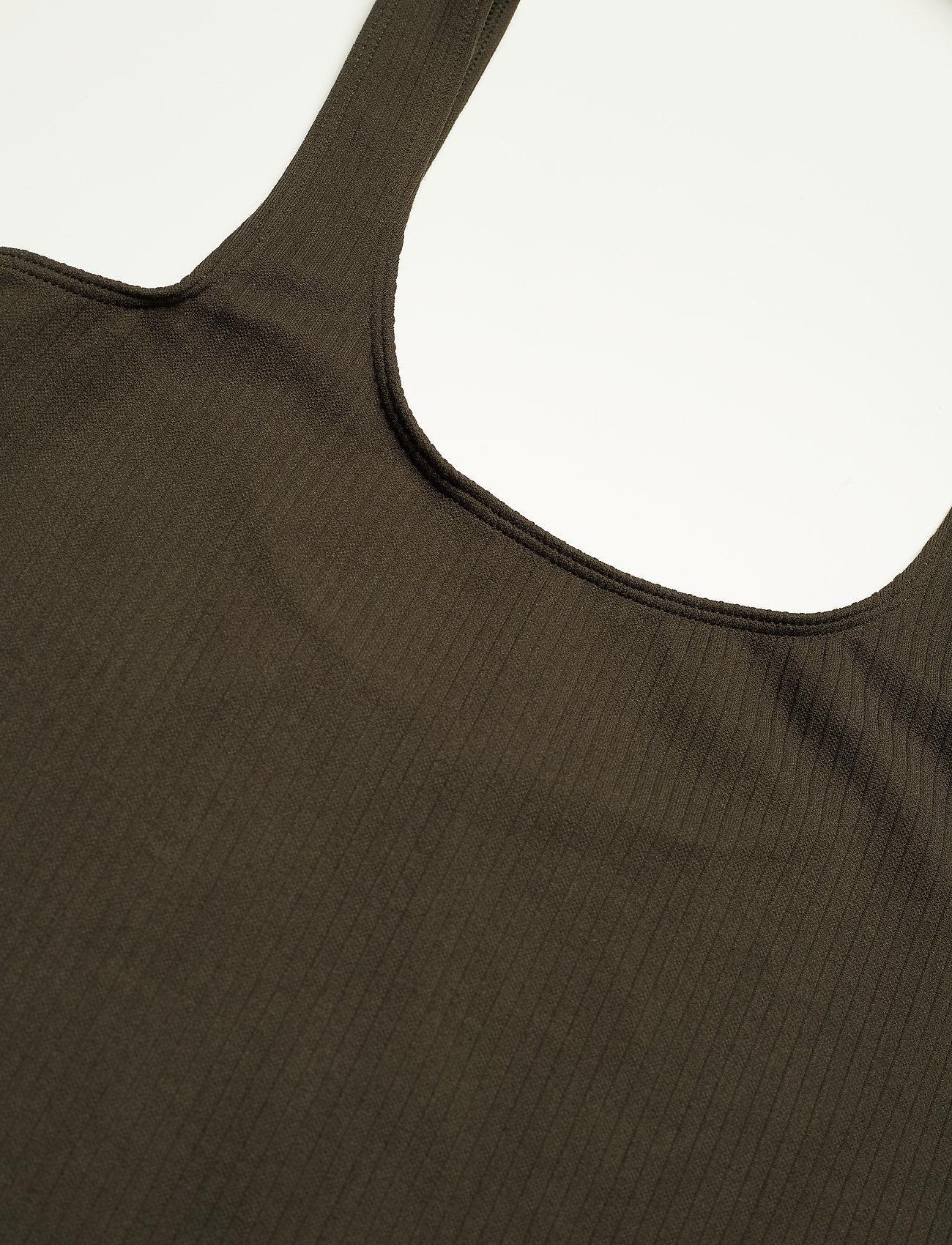 Khaki Ribbed Seamless Singlet (Khaki) (35 €) - AIM'N ecWHx