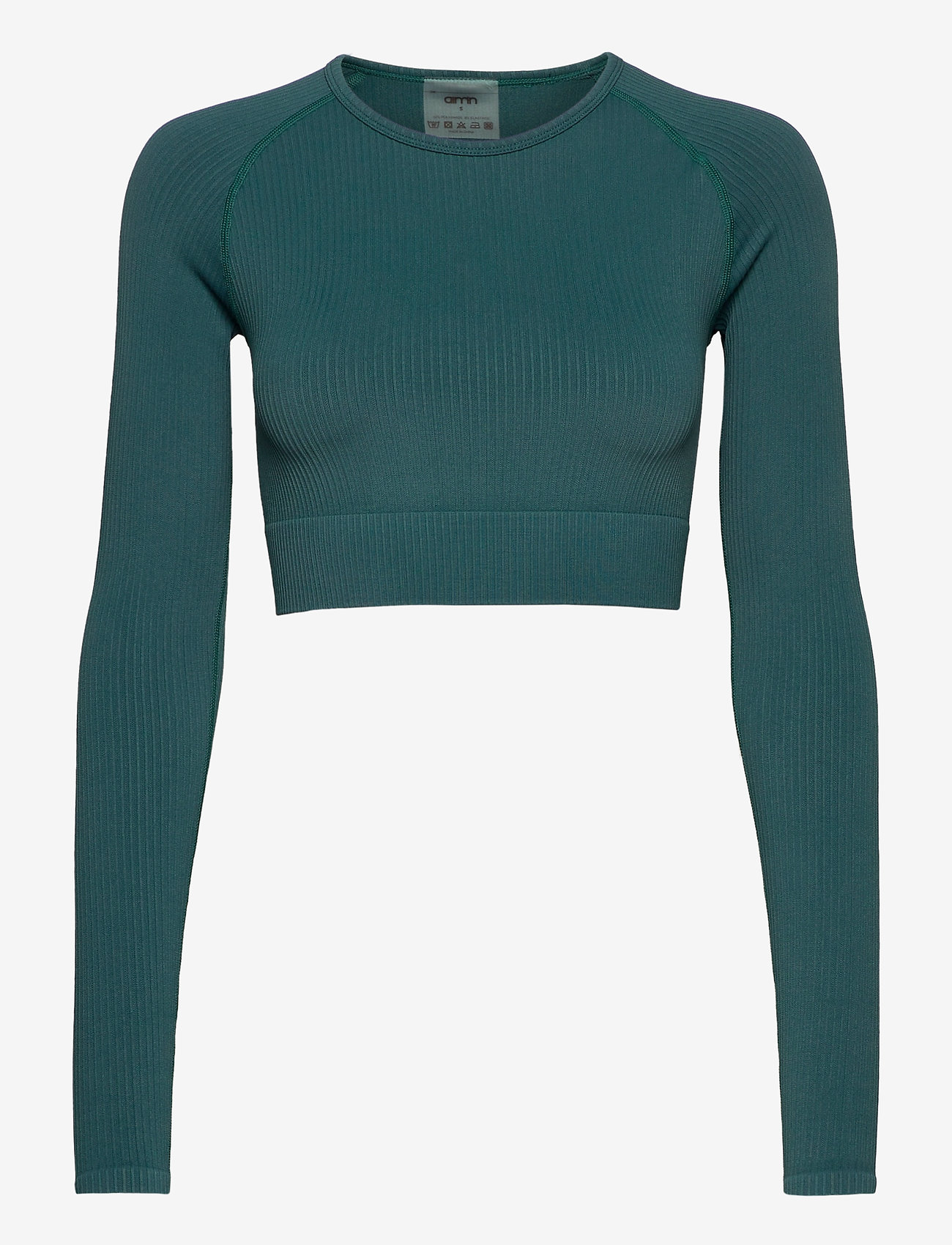 AIM'N - Hydro Ribbed Seamless Crop Long Sleeve - topjes met lange mouwen - hydro - 1