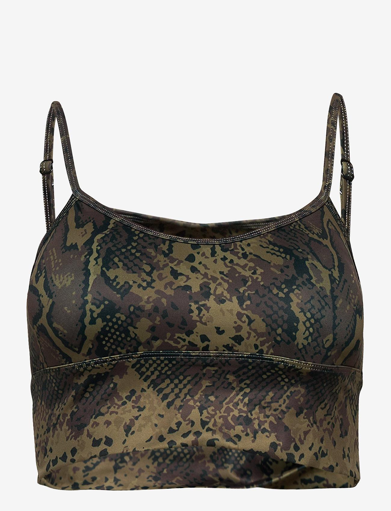 AIM'N - Cobra Logo Strap Bra - sport bras: low support - brown - 1
