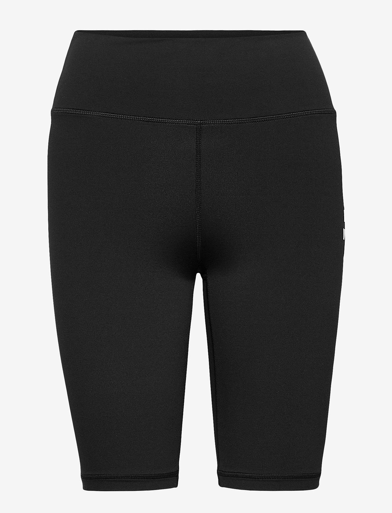 AIM'N - Black Logo Biker Shorts - træningsshorts - black - 1