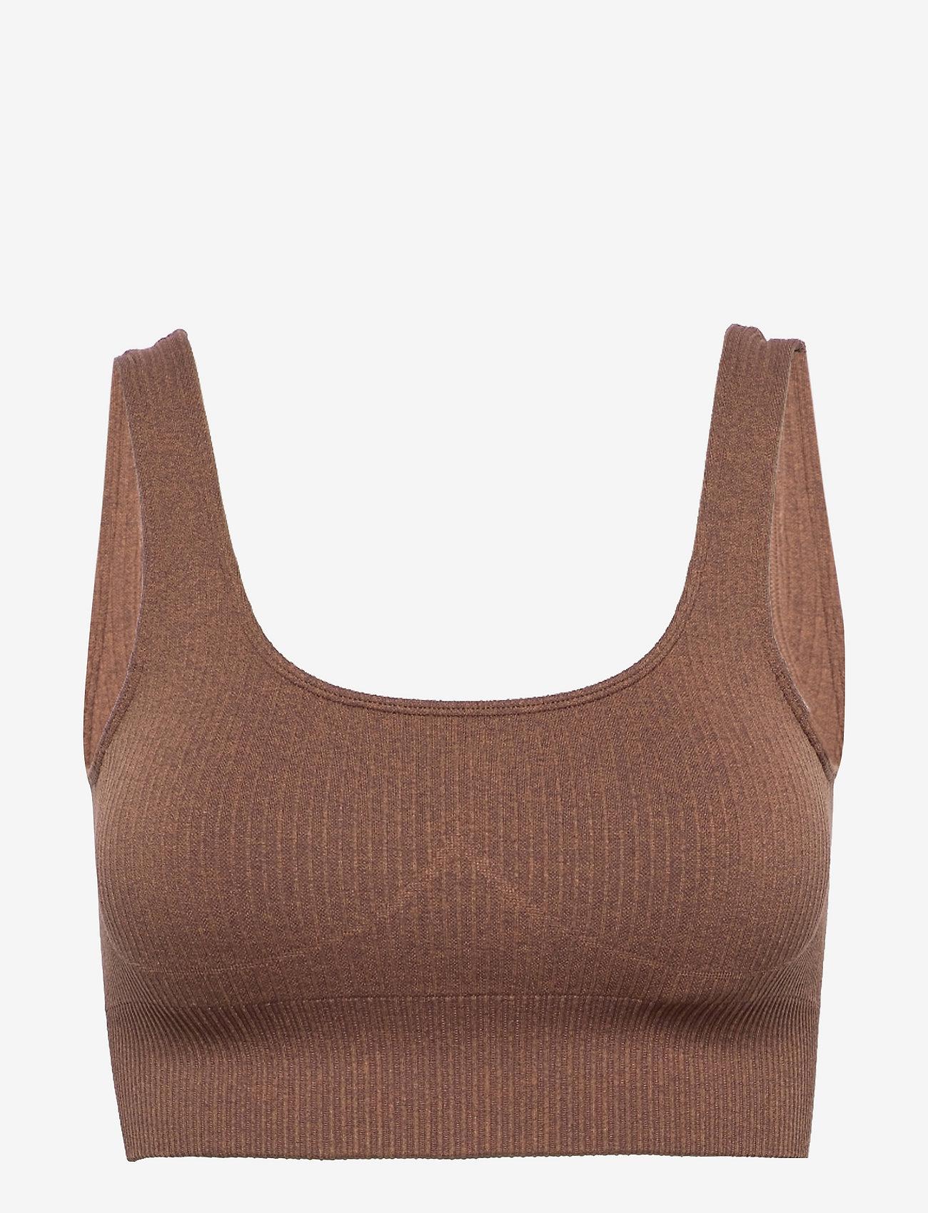 AIM'N - Bronze Ribbed Seamless Bra - sport bras: medium support - bronze - 1