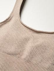 AIM'N - Beige Ribbed Seamless Bra - sport bras: medium - beige - 4