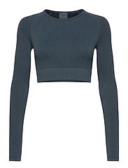 Ocean Washed Ribbed Seamless Crop Long Sleeve - OCEAN