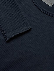 AIM'N - Navy Ribbed Crop Long Sleeve - langærmede toppe - navy - 4