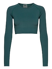 Hydro Ribbed Seamless Crop Long Sleeve - HYDRO