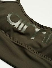 AIM'N - Khaki Logo Strap Bra - sportbeh''s: low - khaki - 5