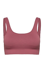 Pink Beat Ribbed Seamless Bra - PINK