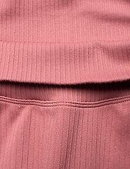 AIM'N - Pink Beat Ribbed Midi Biker Shorts - training korte broek - pink - 5