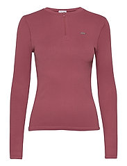 Pink Beat Ribbed Seamless Zip Long Sleeve - PINK