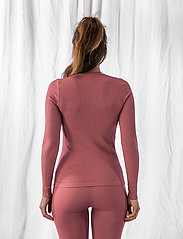 AIM'N - Pink Beat Ribbed Seamless Zip Long Sleeve - topjes met lange mouwen - pink - 3