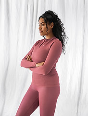AIM'N - Pink Beat Ribbed Seamless Zip Long Sleeve - topjes met lange mouwen - pink - 4