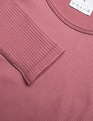AIM'N - Pink Beat Ribbed Seamless Crop Long Sleeve - langærmede toppe - pink - 5