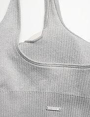 AIM'N - Light Grey Melange Ribbed Seamless Bra - sport bras: medium support - light grey - 3