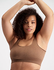 AIM'N - Bronze Ribbed Seamless Bra - sport bras: medium support - bronze - 3
