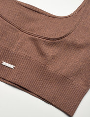 AIM'N - Bronze Ribbed Seamless Bra - sport bras: medium support - bronze - 9