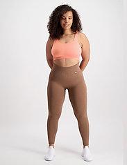 AIM'N - Peach Ribbed Seamless Bra - sport bras: medium support - peach - 4