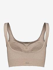 AIM'N - Beige Ribbed Seamless Bra - sport bras: medium - beige - 1