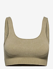 AIM'N - Wild Olive Ribbed Seamless Bra - sort bras:high - wild olive - 1