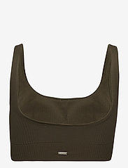 AIM'N - Khaki Ribbed Seamless Bra - sport bras: medium - khaki - 2