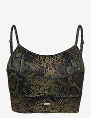 AIM'N - Cobra Logo Strap Bra - sport bras: low support - brown - 2