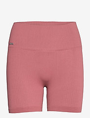 AIM'N - Pink Beat Ribbed Midi Biker Shorts - træningsshorts - pink - 1