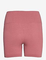AIM'N - Pink Beat Ribbed Midi Biker Shorts - træningsshorts - pink - 2
