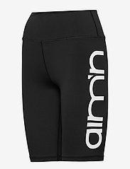 AIM'N - Black Logo Biker Shorts - træningsshorts - black - 3