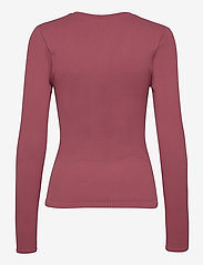 AIM'N - Pink Beat Ribbed Seamless Zip Long Sleeve - topjes met lange mouwen - pink - 2