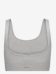 AIM'N - Light Grey Melange Ribbed Seamless Bra - sport bras: medium support - light grey - 1