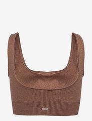 AIM'N - Bronze Ribbed Seamless Bra - sport bras: medium support - bronze - 2